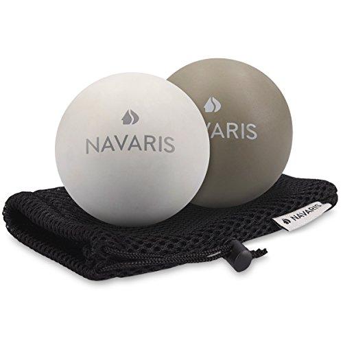 Navaris 2 balles de massage - Balle pour masser points de déclenchement dos main pied épaules - Accessoire sport fitness pilates et relaxation