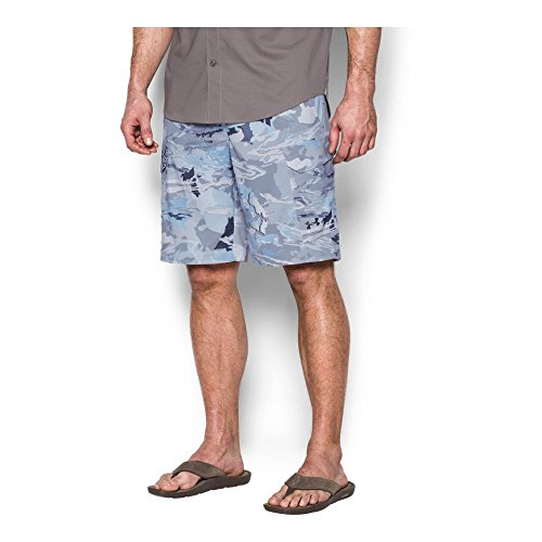 Cargo Shorts Medium Camo - Under Armour Men's Fish Hunter Cargo Shorts, Ridge Reaper Camo Hy/Stealth Gray, 38