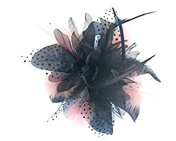 Image Unavailable. Image not available for. Color  Navy Blue and baby pink  fascinator ... 0770437a4aa