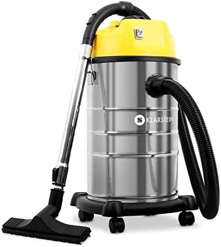 Klarstein IVC-30 - Aspirador Industrial, Seco y húmedo, Doble ...