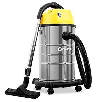 Klarstein IVC-30 • Aspirador Industrial • Seco y húmedo • Doble Motor • 1800W