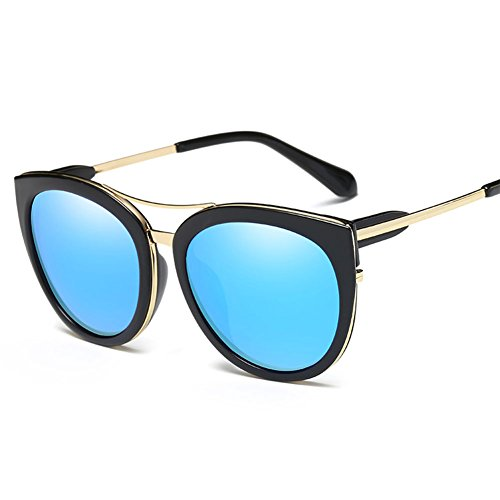Polarized Sunglasses for Women UV400 Protection Cat Eye Sunglasses Fashion Mirrored Lenses(black, - Polarized Sunglasses Polycarbonate