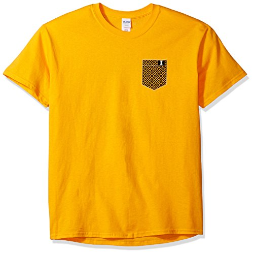- New World Graphics NCAA Iowa Hawkeyes Faux Pocket Short Sleeve, Medium, Gold