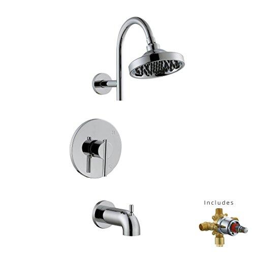 Design House 525709 Geneva Tub and Shower Faucet, Polished Chrome Geneva Diverter Tub Spout