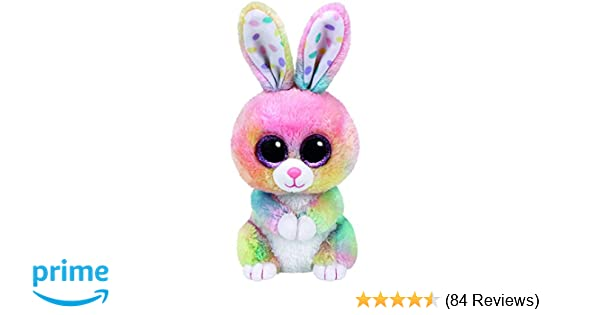 fb00a7ad5a1 Amazon.com  Ty Beanie Boos Bubby Easter Multicolor Rabbit - 6 in  Toys    Games