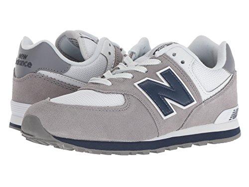 [new balance(ニューバランス)] メンズランニングシューズ?スニーカー?靴 GC574v1 (Big Kid) Grey/Navy 5.5 Big Kid (24cm) M