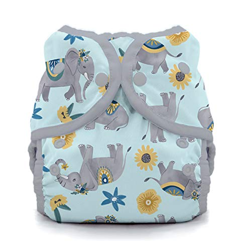 Thirsties Duo Wrap Cloth Diaper Cover, Snap Closure, Elefantabulous Size One (6-18 lbs) from Thirsties