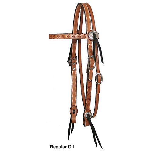 Image of Bridles & Accessories Circle Y Spider Tooled Browband Headstall