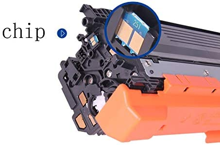 Set of 4 with chip PM-250A Toner Cartridge Replaceable Compatible for HP Color Laserjet CP3525 3525n Color Series Printer