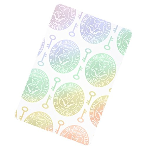 5 Pack - Premium Holographic Overlays for Standard Size ID Cards - Key and Seal Holograms - Adhesive Sticker Style, by Specialist ID