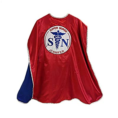 Everfan Super Nurse Cape | Adult Superhero Cape for Nurses Red: Clothing