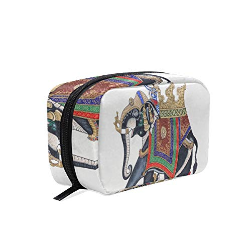 Cosmetic Bag Beautiful Elephant On The Wall Of City Palace Customized Square Organizer Portable Pouch Pencil Storage Case for Women