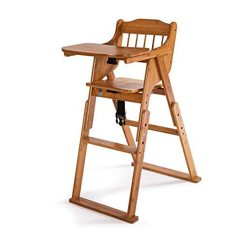 Adumly Baby High Chair Bamboo Stool Infant Feeding Children Toddler ()