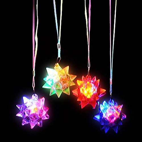 Crystal Star Ball Flashing Necklace Flashing Star Ball