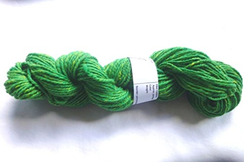 Bright Green With Yellow Slubs Heavy Worsted Weight Soft Knitting Yarn