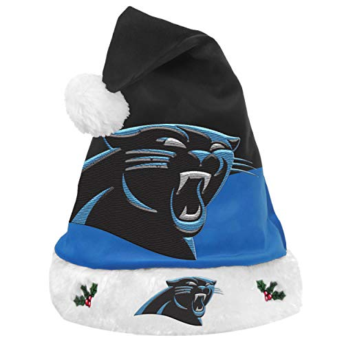 Panthers Santa Hat (FOCO NFL Carolina Panthers Unisex 2018 Basic Santa Hat2018 Basic Santa Hat, Team Color, One Size)