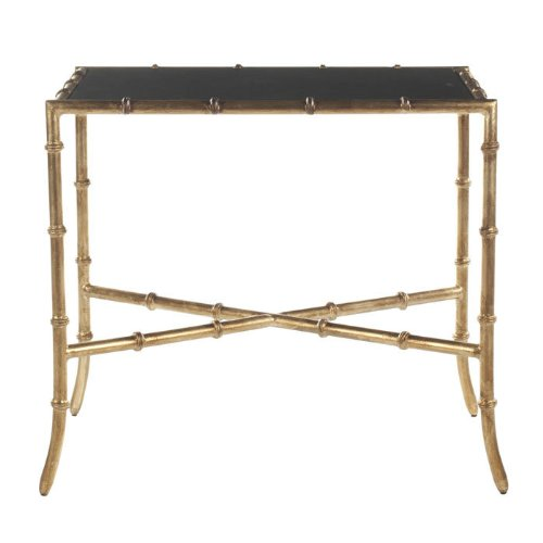 Safavieh Chandler Accent Table Black/Gold/Granite Topped