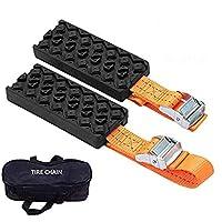 $39 » V-EWIGE Anti Skid Tire Blocks 2PCS Emergency Snow Mud Sand Tire Chain Straps Traction…