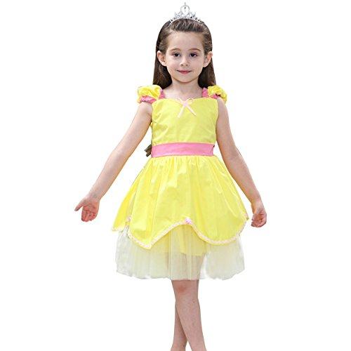 Girls'Princess Belle Costumes Princess Dress up Halloween Costume