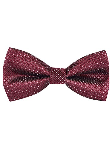 Pre Adjustable All 5 Closure Fashion Bowtie 12 6 Pack Tied Bordeaux cm with Hook Men's 4 TxaqFC5nwx