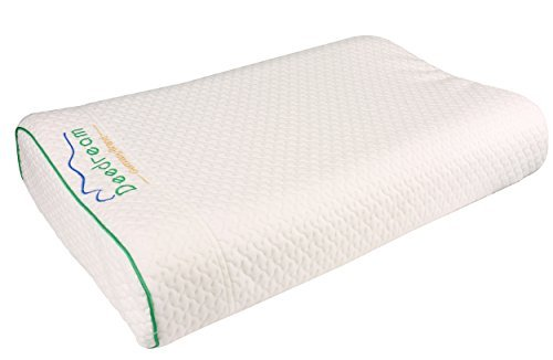 Natural Latex Pillow Countour Talalay for Neck Pain, Deedream Removable Waterproof Tencel Cover