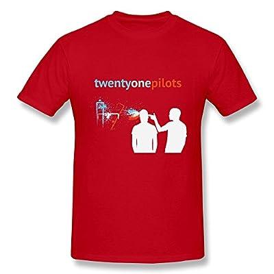 SHUNAN Men's Twenty One Pilots T-shirt Size XL Red