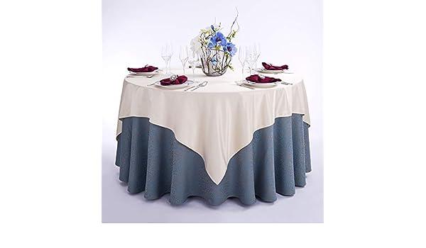 GHTYN Mantel Redondo de poliéster Azul Mantel de Hotel clásico Europeo Restaurante Banquete Mesa de Boda Mantel Diámetro de Mantel 3.2 m Azul grisáceo: Amazon.es: Hogar