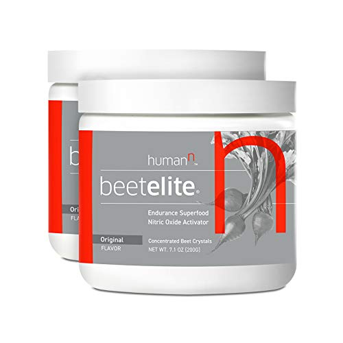 HumanN BeetElite Superfood Concentrated Beet Powder Nitric Oxide Boosting Athletic Endurance Supplement Original Apple Flavor, 7.1-Ounce, 2-Pack