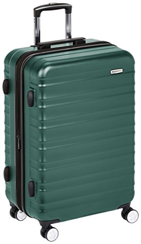 AmazonBasics Premium Hardside Spinner Luggage with Built-In TSA Lock - 26-Inch, Green