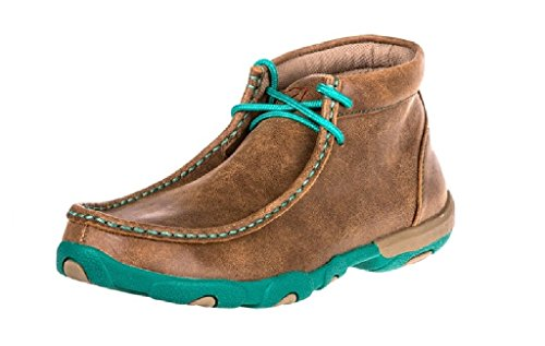 Twisted X Women's Driving Moccasin Bomber Turquoise (11)