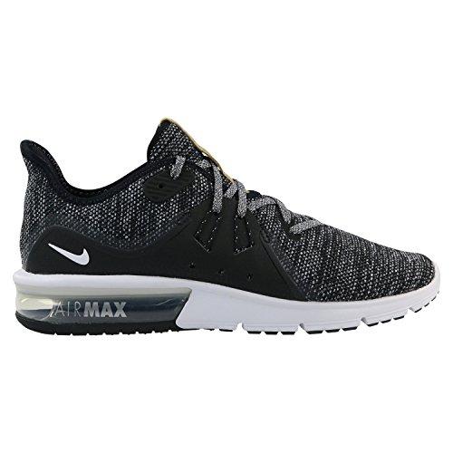 premium selection b0029 50e36 Nike Air Max Sequent 3 Hommes Courir Noir   Blanc-gris Foncé