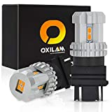 #10: [2018 UPGRADED] OXILAM 3157 LED Turn Signal Bulbs Extremely Bright 3156 3057 4157 3157 LED Bulbs Amber for Turn Signal Light Bulb with 12pcs 3020 Chipsets Amber Yellow(2 PACK)