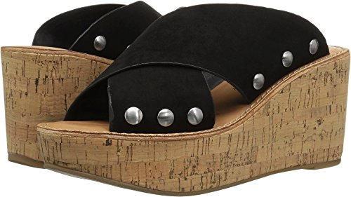 (Chinese Laundry Women's OAHU Wedge Sandal, Black Suede, 8.5 M)