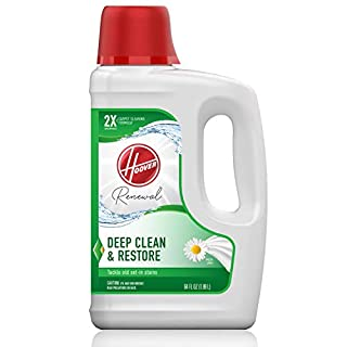Hoover Renewal Deep Cleaning Carpet Shampoo, Concentrated Machine Cleaner Solution, 64oz Formula, 64 oz, White, 64 Fl Oz