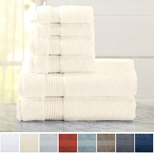 6-Piece Luxury Hotel / Spa 100% Turkish Cotton Towel Set, 60
