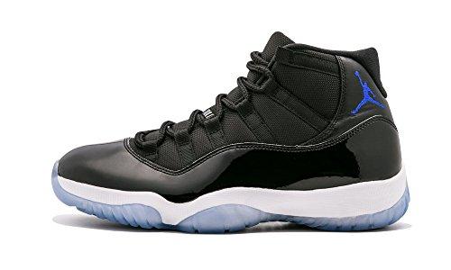 03346c41408ce Nike Mens Air Jordan 11 Retro Space Jam Black Concord-White Leather Size 12