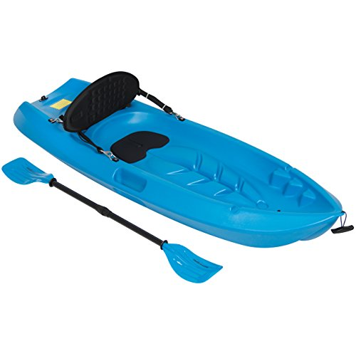 Best Choice Products Sports 6' Kids Kayak With Paddle And Backrest