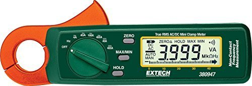 Extech 380947 400 Ampere True RMS AC/DC Mini Clamp on Meter with High Current Resolution by Extech