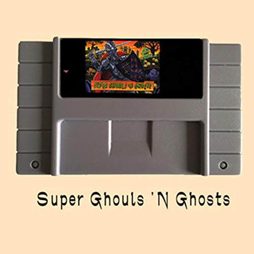 BrotheWiz Super Ghouls 'N Ghosts USA Version 16 Bit Big Gray Game Card NTSC