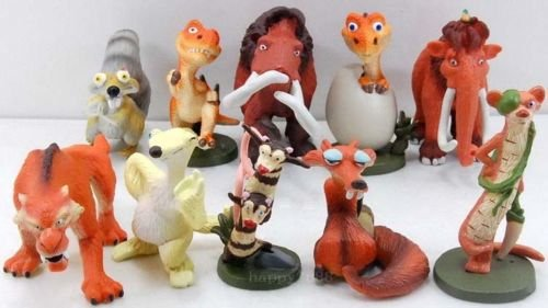 Nutty Stick Ball (10 x ICE AGE Movie 3 Collectable Squirrel Weasel FIGURE SET 2