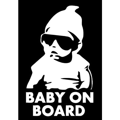 TOTOMO Baby on Board Sticker - Funny Cute Safety Caution Decal Sign with Carlos from The Hangover for Cars Windows and Bumpers ALI-001: Automotive