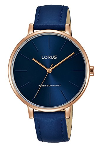Lorus Analogue Leather Strap Rg214nx9 Watch Quartz With Women's c3F1TKJl