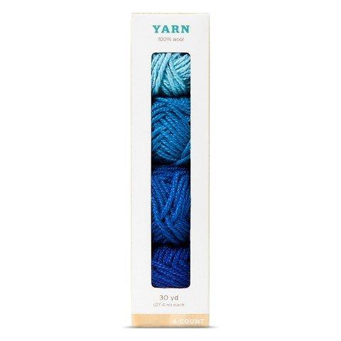 Hand Made Modern - 4ct Multipack Yarn - Blues