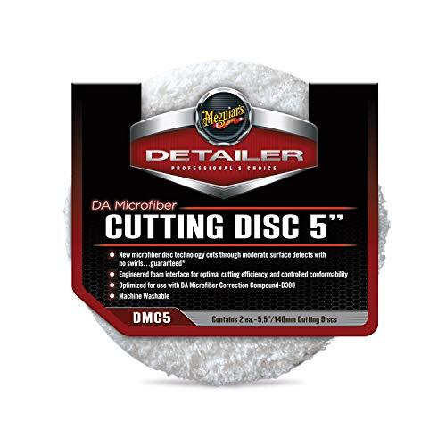"""Meguiar's DMC5 DA 5"""" Microfiber Cutting Disc, 2 Pack"""