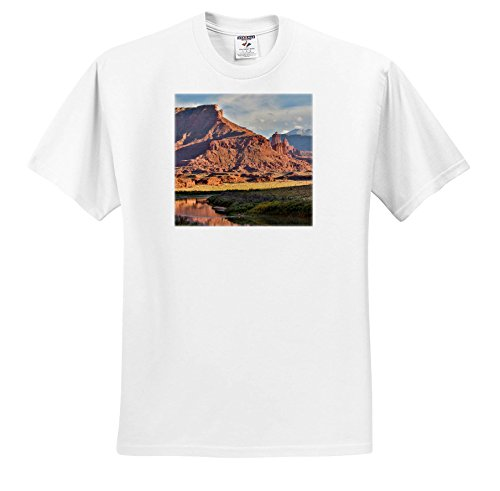 3dRose Danita Delimont - Mountains - Fisher Towers Reflected in Colorado River in Evening Light, Utah - T-Shirts - White Infant Lap-Shoulder Tee (12M) (White Fisher 12 Light)