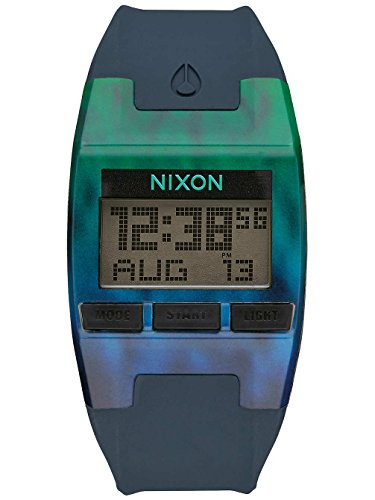 Nixon Comp S Blue Rubber Ladies Digital Watch A336-2156-00