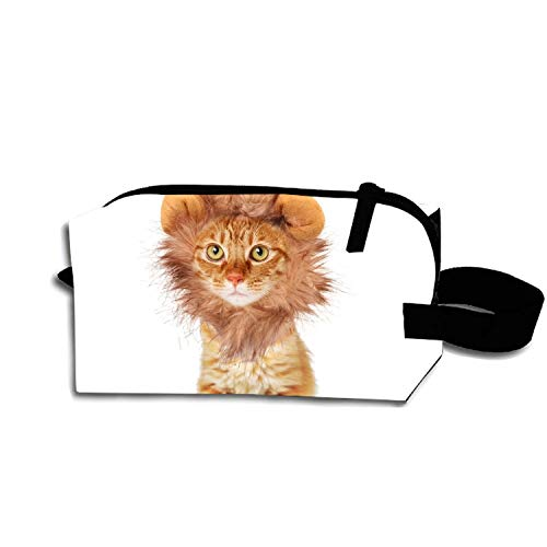 Cat Halloween Costumes Makeup Pouch with Top Handle for Men and Women ()