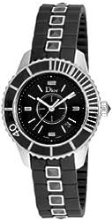Christian Dior Women's CD11311FR001 Christal Black Sapphire Dial Watch