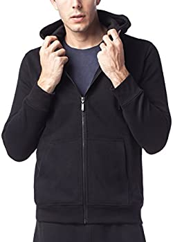 Lapasa Mens Fleece Midweight Full-Zip Hooded Sweatshirts