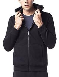 Men's Hoodie - Hooded Zipper Sweatshirt with Inner Fleece - Essential Full Zip Up Sweat Shirt M20
